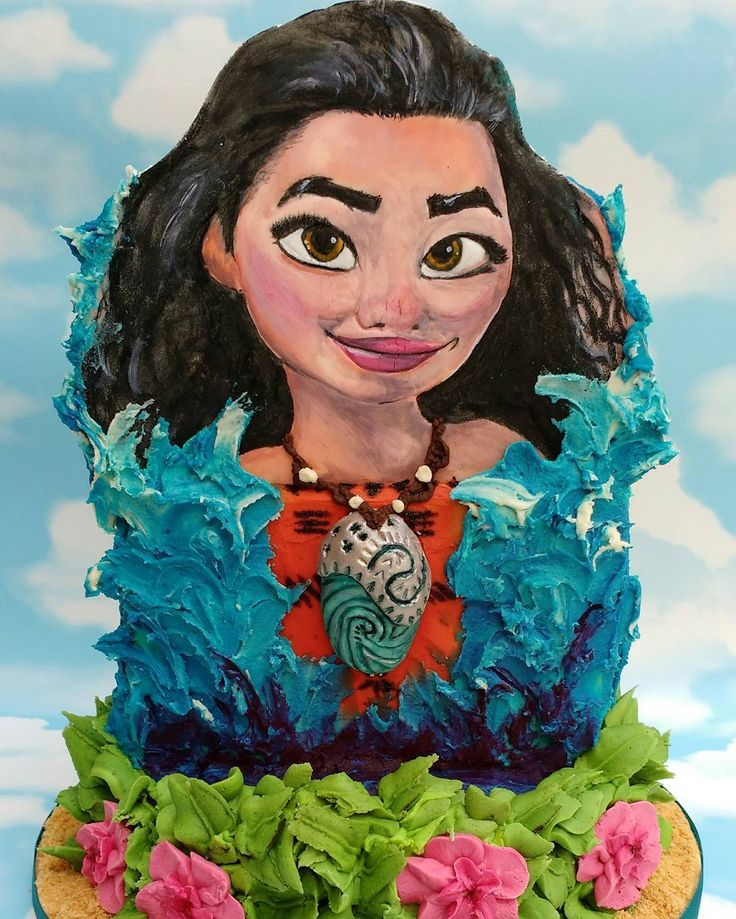 """3 Likes, 2 Comments - @1.21gigawattsgirl on Instagram: """"When your 8 year old asks for a Moana themed birthday party :) All buttercream decoration apart…"""""""