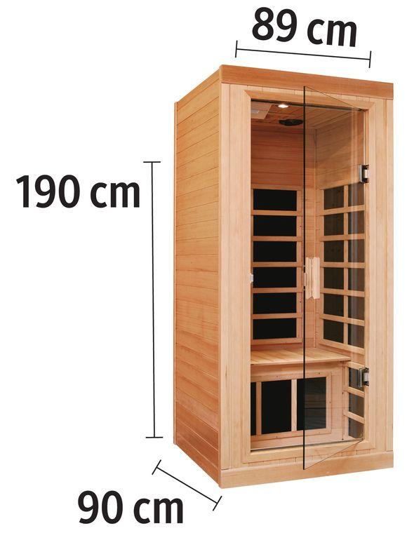 Helo Family Infrarotkabine Tana Sun 1 90 99 184 Cm 12 Mm Carbonflex Strahler Dizajn Doma Vannaya Sauna