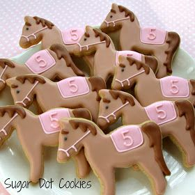 Sugar Dot Cookies: Horse Cookies