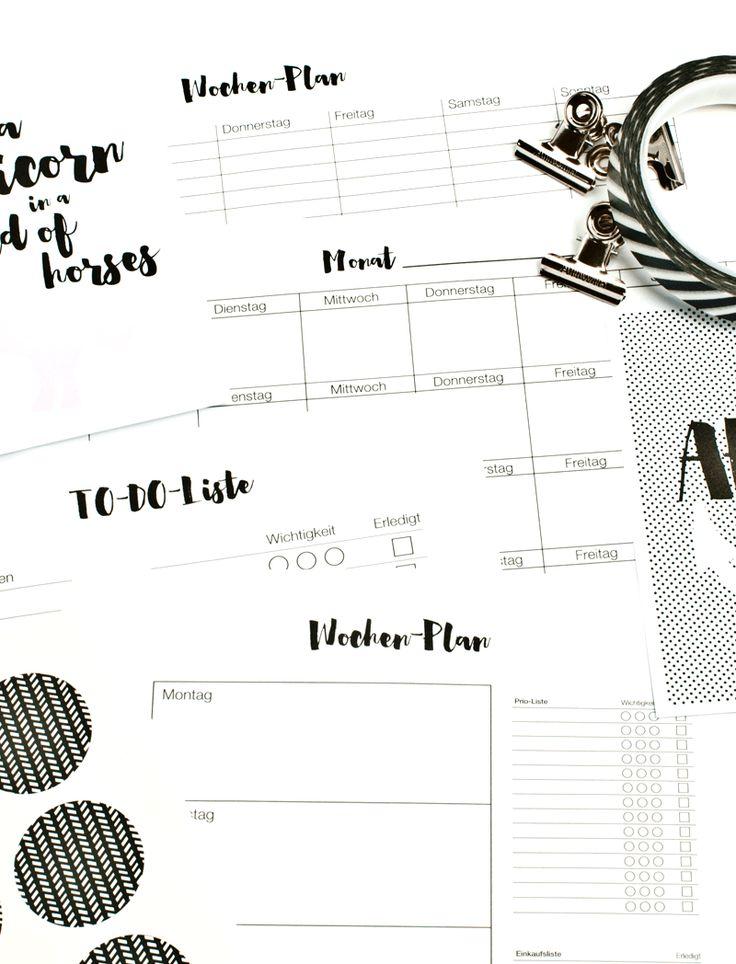 Kalender zum Ausdrucken ✰ Wochen- & Monatsplaner + To-Do-Liste ✰ miomodo Blog: DIY, Basteln, Verpacken & Verschenken ✰ www.miomodo.de ✰ Instagram: @miomodo