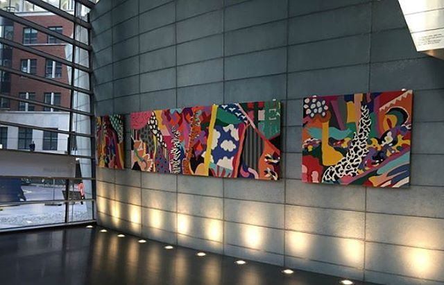 Make a trip to 10 Exchange Square to revel in the newly restored, vibrant woven tapestry by artist Marta Rogoyska. Image  Broadgate London