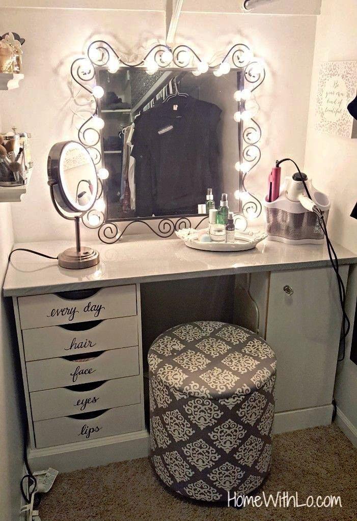 Large Capacity Cosmetic Storage And Makeup Organizer Diy Vanity