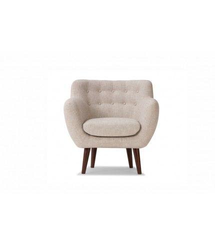 Anne, chair, Merle linen