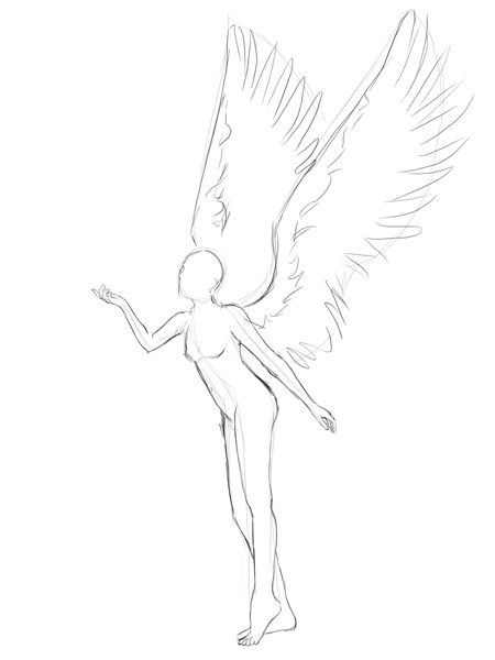 winged poses | Creating an Anime-Styled Angel Vector Illustration in Adobe Photoshop
