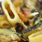 Pasta+con+zucchine,+melanzane+e+pomodoro+♥