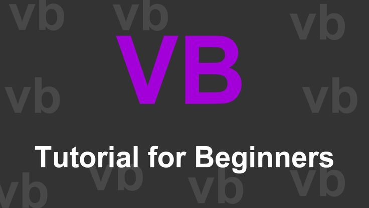 Visual Basic Tutorials for Absolute Beginners More