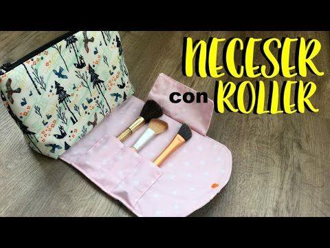 Neceser con roller para brochas. ( Patrón incluído ) - YouTube