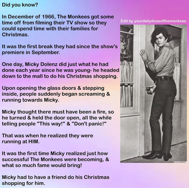 The Monkees Memes David Jones Mike Nesmith Peter Tork Micky Dolenz 1960's Monkees Facts Christmas Fun Facts Monkees Trivia InductTheMonkees