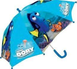 Oh nee, het regent! Pak snel je paraplu van Finding Dory, klap hem uit en bescherm jezelf tegen de vallende regendruppels. Met mooie afbeeldingen van Dory en haar vriendjes uit de oceaan.   Afmeting: volgt later.. - Paraplu Finding Dory: 38 cm