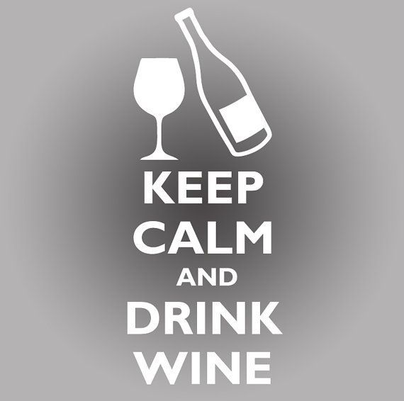 Keep Calm and Drink Wine KCCO Chive Style Decal. Comes in 5 Color Choices