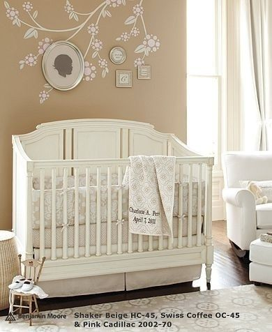 Baby girl room idea   Ash - this stencil/paint treatment made me think of what you did in your room in high school
