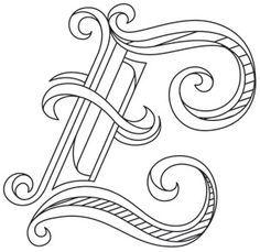 Letter Perfect - Letter E design (UTH7596) from UrbanThreads.com  ~ <3 K8 <3 ~
