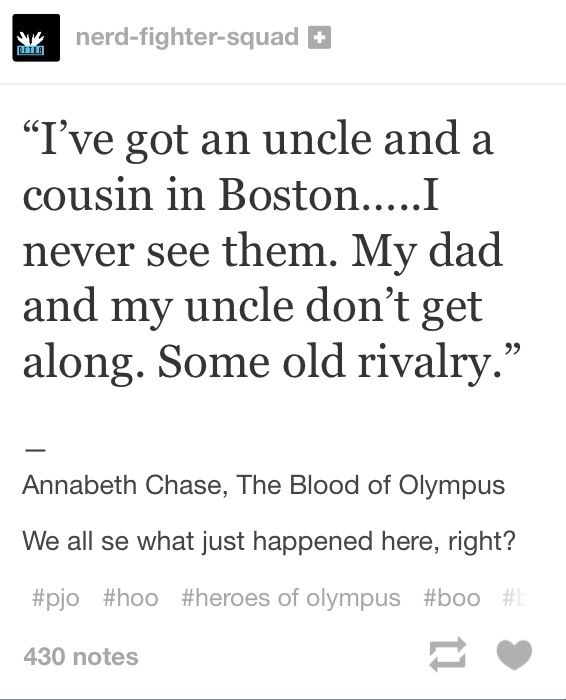 Magnus chase is related to Annabeth chase as a cousin. Here is proof from BoO