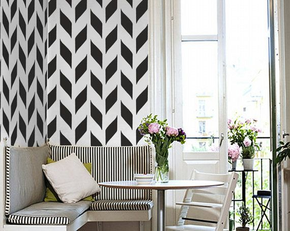 Black And White Wall Decals 187 best wallpaper & wall decor images on pinterest | wall decor