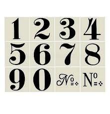 vintage numbers font - Google-Suche