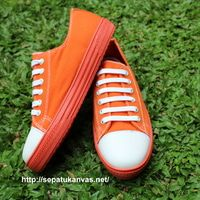 Sepatu Kanvas -  Casual Warna Orange Ciarmy Type SKC-01 ORG