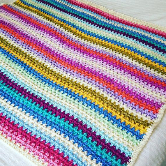 Crochet Pattern For Granny Stripe Baby Blanket : 1000+ ideas about Granny Stripe Crochet on Pinterest ...