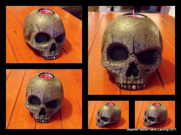 Twisted Skull candle holder | KreativeJuze
