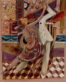 100% handpainted soyut modern tango dans yağlıboya duvar dekor dekoratif resim tuval sanat üreme