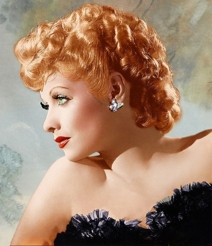 Lucille Ball, love this color photo of her.