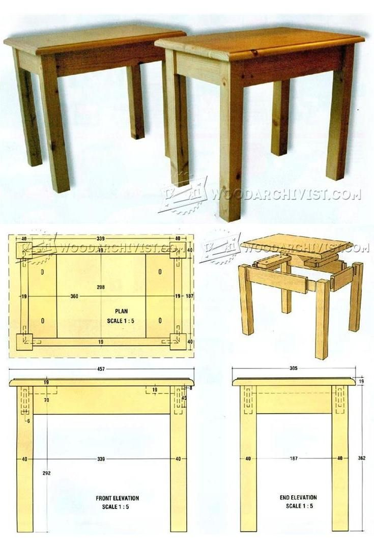 Occasional table plans furniture plans and projects woodarchivist com