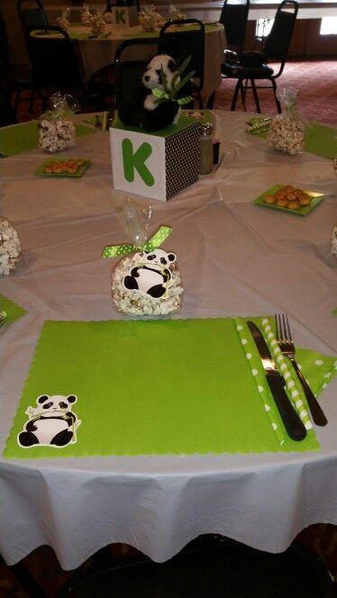 panda bow ribbon thingy panda baby shower pin baby shower pin panda