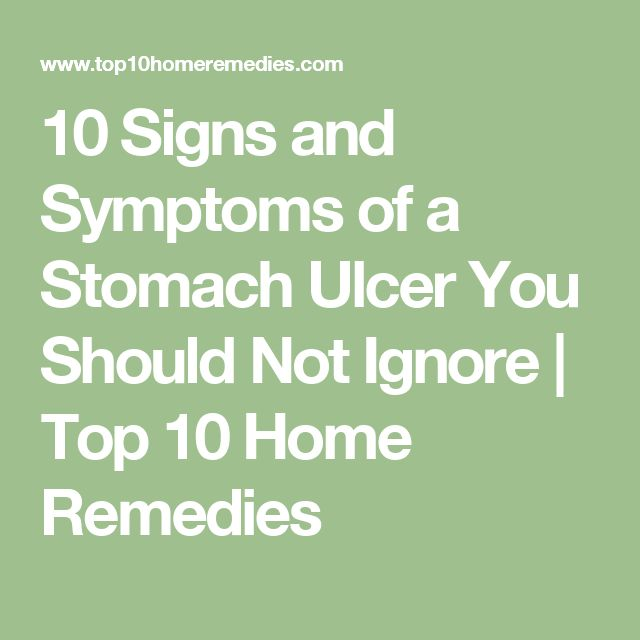 stomach ulcer how to know