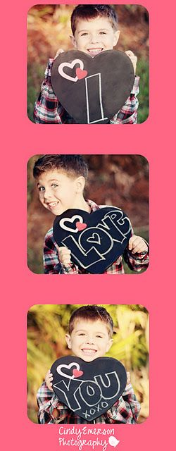 "Valentine Heart Chalkboard. But take a pic of each kid and make it say ""We Love You"" send to grandparents! Cute project idea"