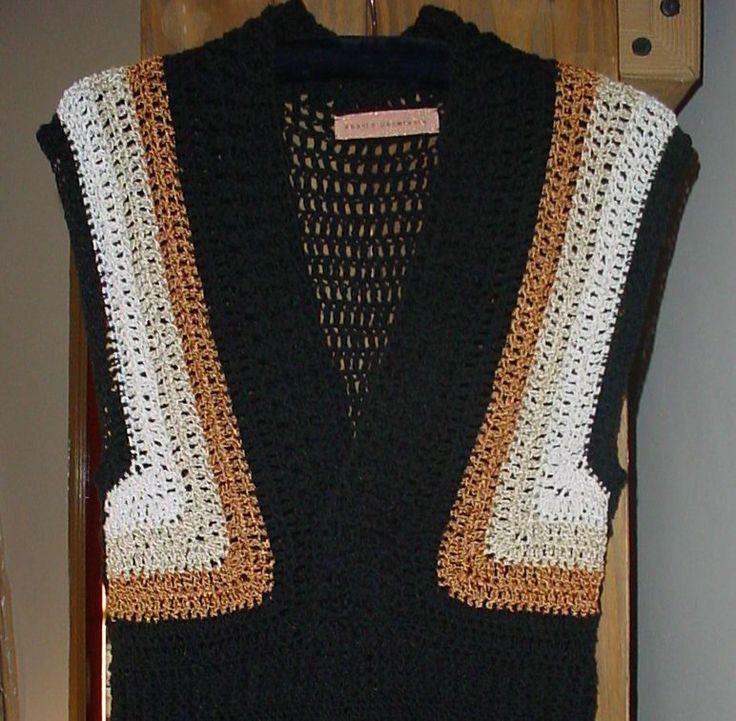 Tejido en seda y algodon con seda negro / www.tiabones.com.ar