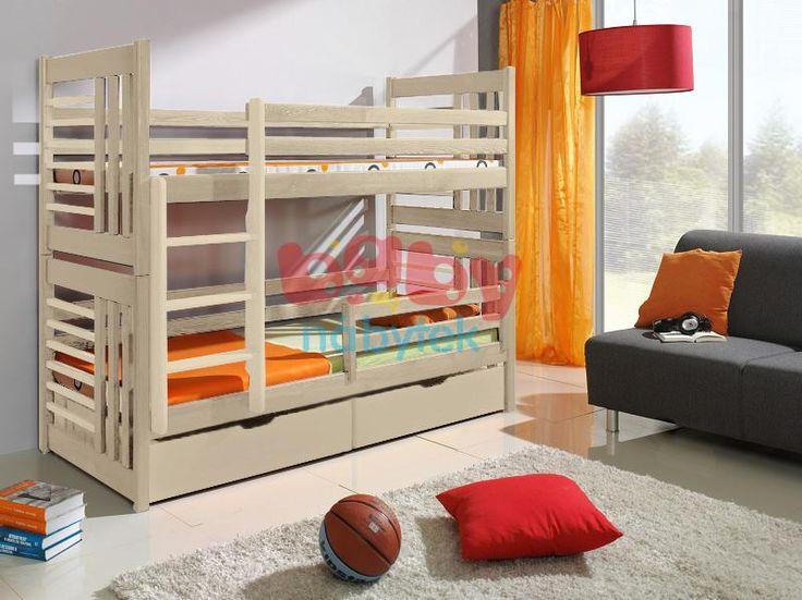 Dětská patrová postel Jeffrey přírodní - Dětské patrové postele