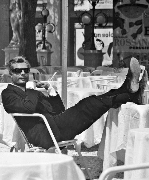 Marcello Mastroianni in 8½, 1963