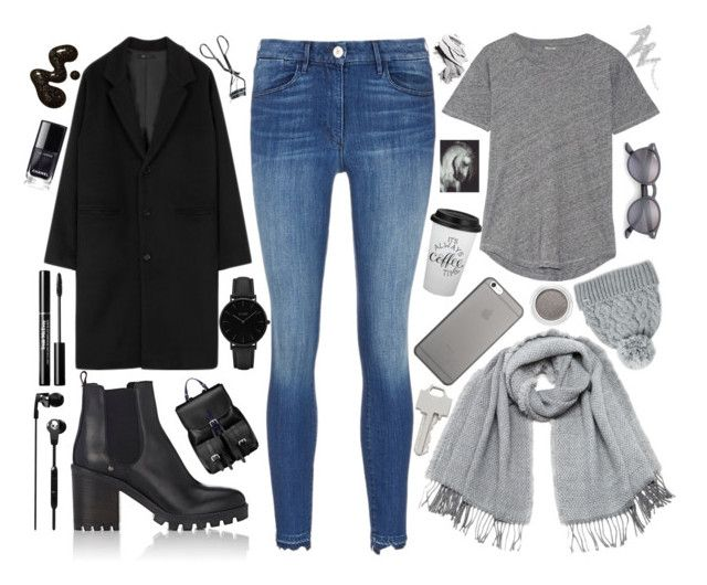 """""""BL∆CK & grey"""" by cs1gusz on Polyvore featuring Barneys New York, Madewell, Aspinal of London, Rella, Native Union, Ray-Ban, CLUSE, Vero Moda, Lauren Klassen and Clarins"""