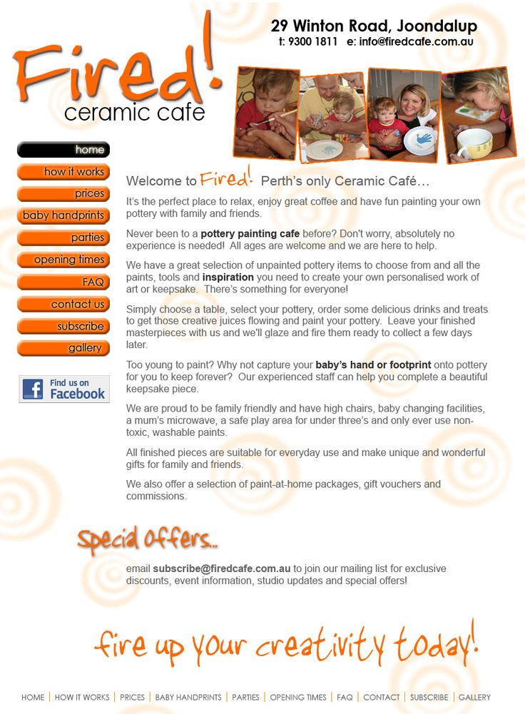 Fired Ceramic Cafe- Joondalup clay craft and painting