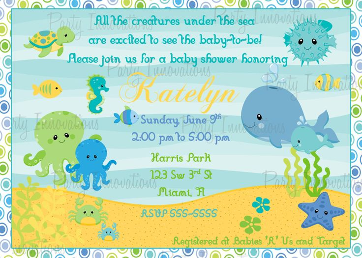 Under the sea baby shower invitations with fetching creative concept of free invitation templates printable on your baby shower 10