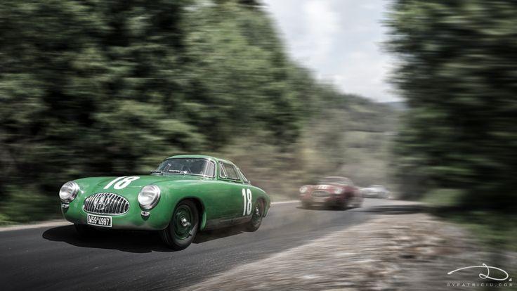 Mercedes-Benz 300SL, Bern GP #18(Karl Kling) #16(Rudolf Caracciola) #20(Hermann Lang), 1952 - models made by CMC in 1:18th scale.