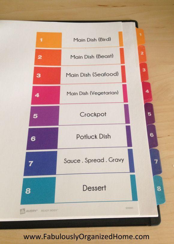 25 best recipe binder images on pinterest