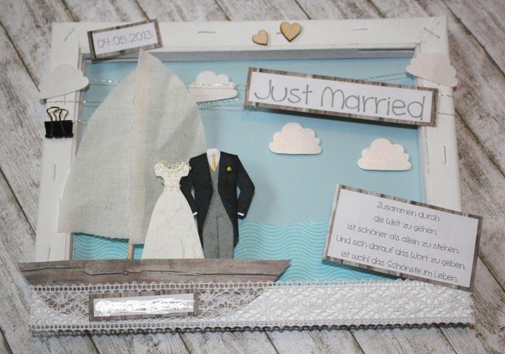 *Sie sind zu einer Hochzeit eingeladen und das Brautpaar wünscht sich Geld - doch wie hübsch verpacken?* Wie wäre es mit diesem wunderschönen K...