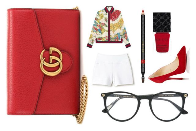 """""""Guc"""" by thelomthethwa on Polyvore featuring Gucci, Christian Louboutin and Lacoste"""