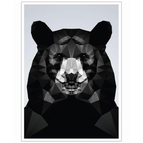 Geo Black Bear as Art Print by Three Of The Possessed | Art. Everywhere.