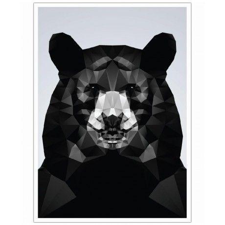 Geo Black Bear as Art Print by Three Of The Possessed | Art. Everywhere.