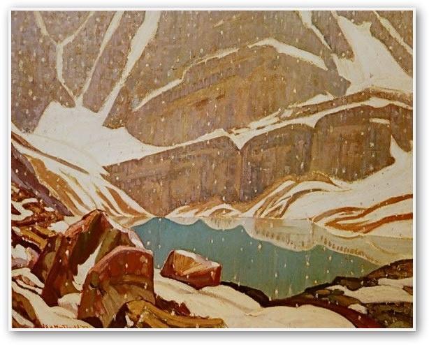 J.E.H. MacDonald  Mountain Snowfall Lake Oesa 1932