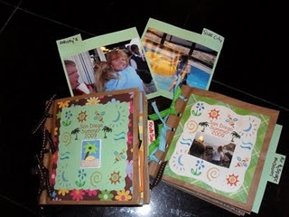Easy scrapbook to make from paper bags. We made these at a family reunion, and we made them at girl's camp. Everyone, from the youngest to grandma, loved making a scrapbook. This gives you a step by step instruction on how to make it.