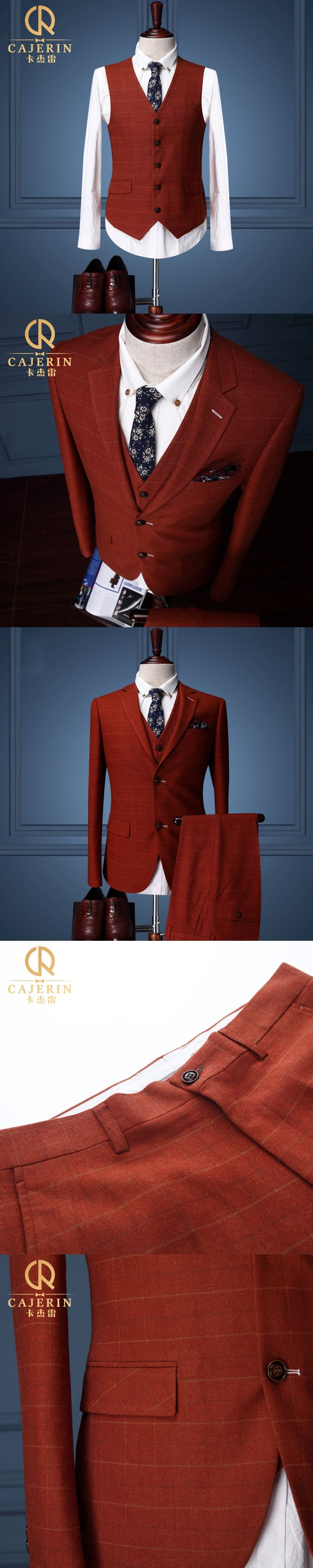 Brand Clothing Mens Prom Suits Wedding Groom Red Tuxedo Jacket Slim Fit Suit Men High Quality Single Breasted Gentleman Plaid