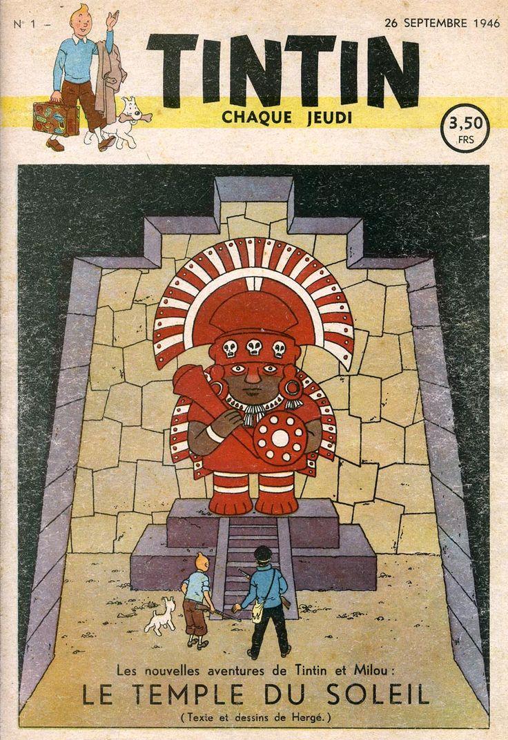 Journal de TINTIN édition Belge N° 1 du 26 Septembre 1946 - Le temple du soleil