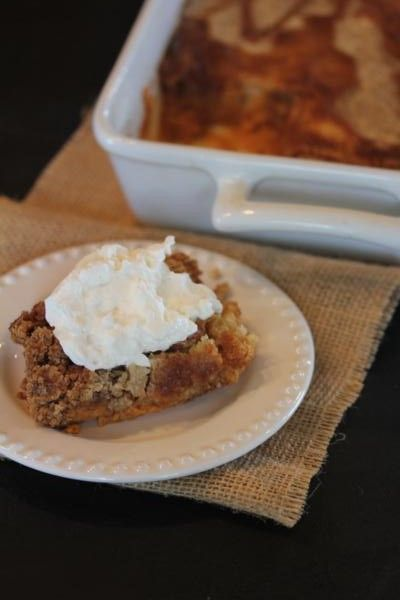 Pumpkin Dump Cake without the Mix__