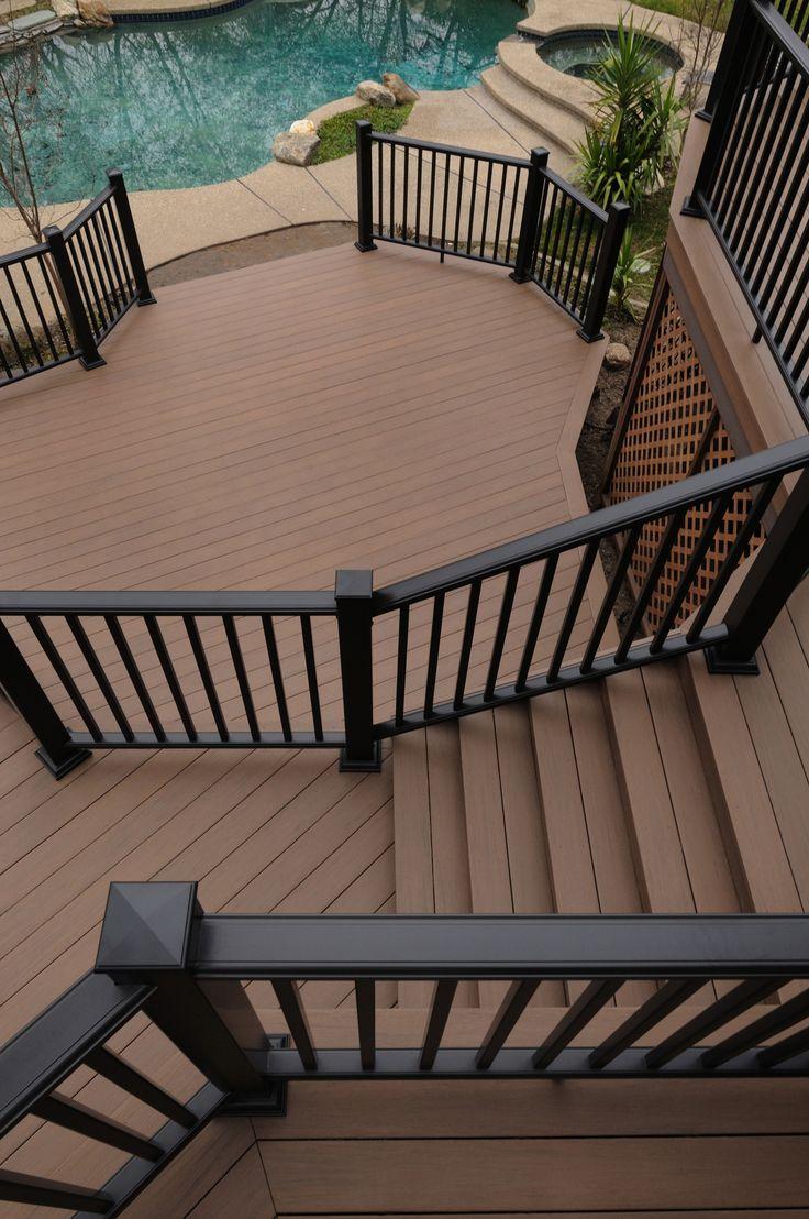 11 best railing systems aluminum glass vinyl images on azek morado deck rail baanklon Image collections