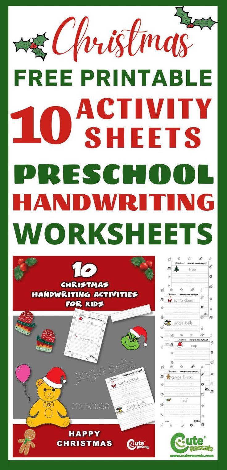 Pre K Christmas Printable Free Handwriting Worksheets Free Handwriting Worksheets Free Handwriting Christmas Math Worksheets [ 1521 x 736 Pixel ]