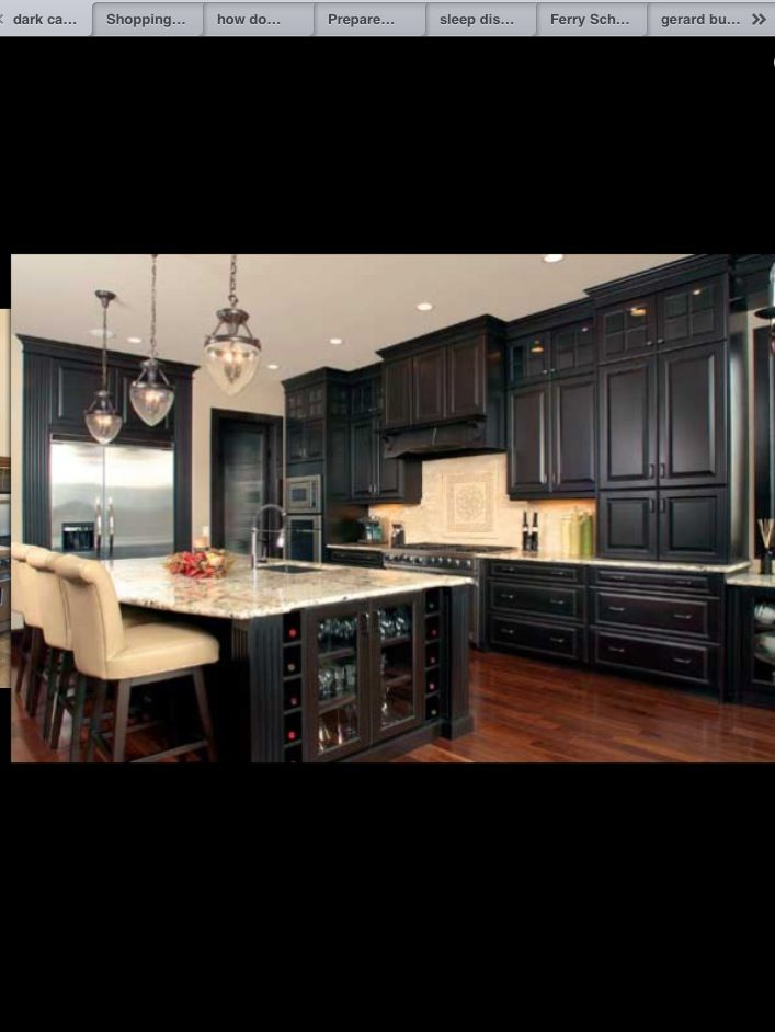 33 best images about kitchen ideas on pinterest cabinets for Dark cabinets light granite