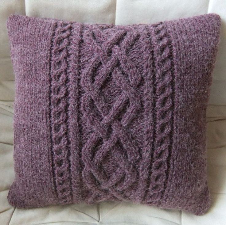 337 best knit cable pillow images on Pinterest
