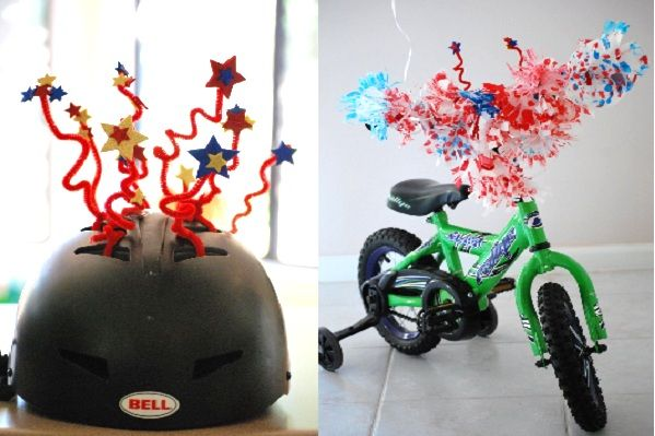Helmet decorations bikes away 10 parade ready ideas for for Bike decorating ideas